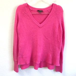 J. Crew V Neck Sweater Yarn Pink Supersoft XS